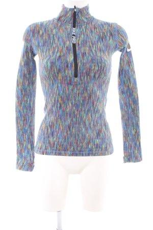 Nike Longesleeve blauw-lila gestippeld simpele stijl