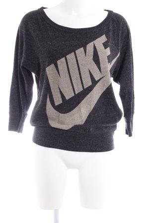 Nike Longsleeve anthrazit meliert Logoprint