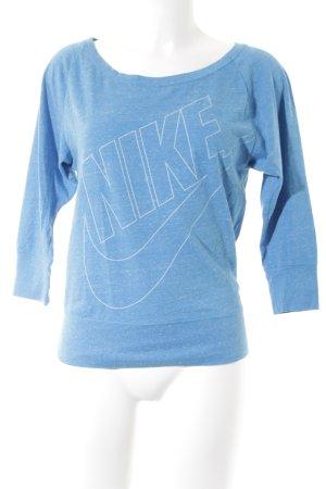 Nike Longsleeve blau-weiß meliert sportlicher Stil