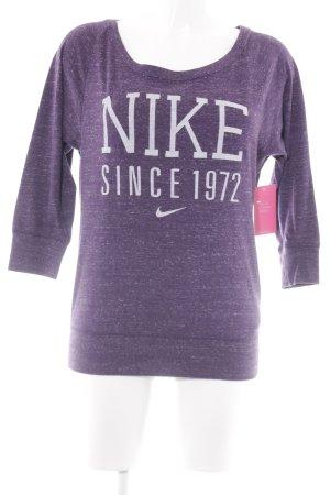 Nike Manica lunga viola scuro puntinato logo stampato