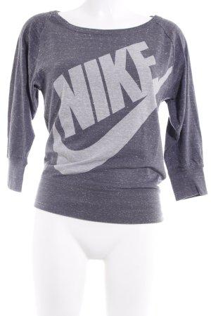 Nike Longsleeve grau meliert sportlicher Stil