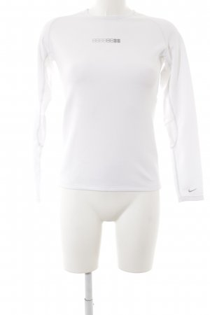 Nike Longsleeve weiß-grau Motivdruck sportlicher Stil