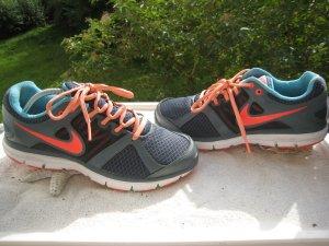 Nike Lunarlon ´´ Laufschuhe Blautöne & Knall Korall Neu Top