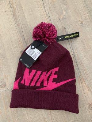 Nike Sombrero de punto magenta-rosa