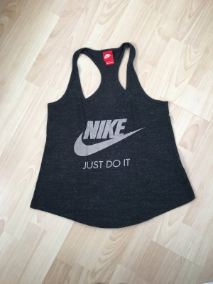 Nike Maglietta sport grigio scuro-color cammello