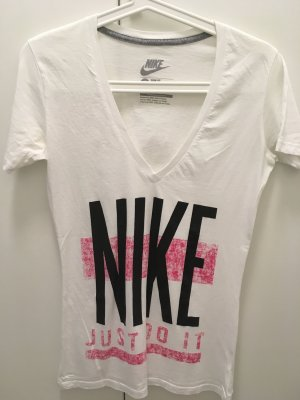 Nike Oberteil t-Shirt s xs 34 36 weiß Sport gym Fitness Blogger Fashion