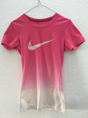 Nike Ombre Dip dye T-Shirt rosa weiß Sport Gr. XS