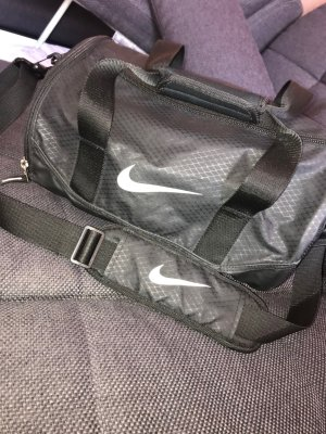 Nike Bolsa de gimnasio negro-blanco