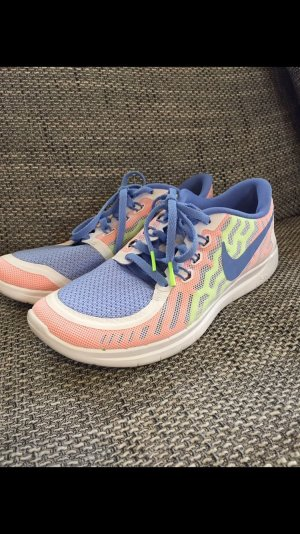 Nike Sneaker stringata bianco-azzurro