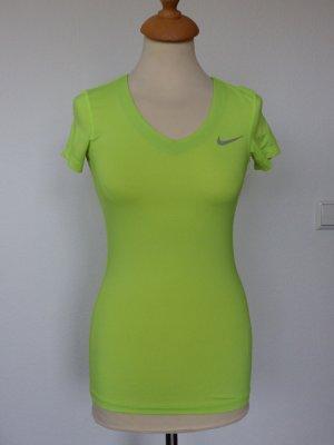 Nike Performance Pro Sportshirt Gr. XS, neongelb