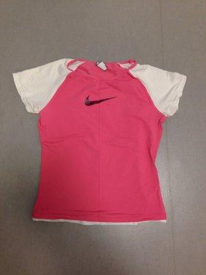 Nike pink weiß Sport shirt Oberteil Gr M L