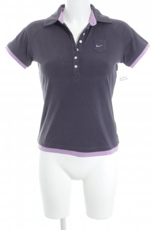 Nike Polo lilas-gris violet style athlétique