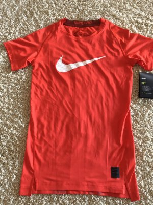 Nike Sports Shirt brick red-white