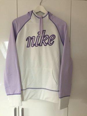 Nike Pulli Hoodie Sweater Sport weiß-lila-flieder in Größe L/M