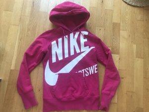 Nike Pull à capuche blanc-rose