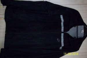 Nike Raincoat black-silver-colored polyester