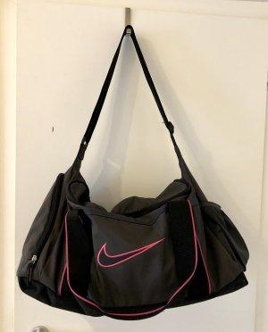 Nike Borsa sport nero-rosa