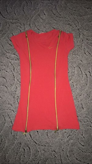 Nike Retro Vintage Kleid Lachs Rot Gold Gr. S