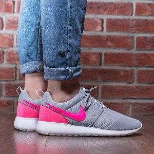Nike Heel Sneakers grey-neon pink