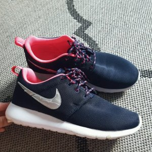 Nike Lace Shoes pink-dark blue