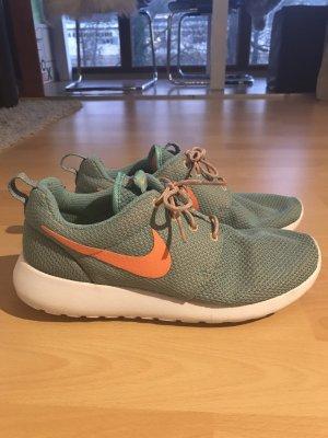 Nike Roshe Run Größe 40 blau/orange sehr guter Zustand