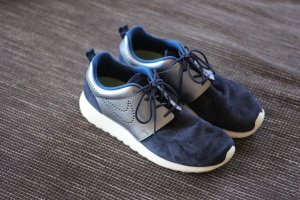 Nike Roshe Run Nike Roshe One Blau Metallic Wildleder Blogger Gr, 41