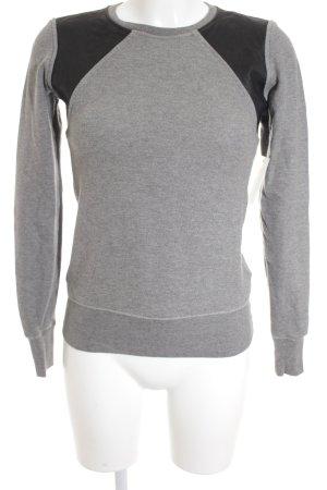 Nike Rundhalspullover grau-schwarz sportlicher Stil