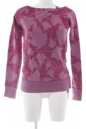 Nike Rundhalspullover pink Mustermix sportlicher Stil