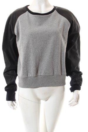 Nike Rundhalspullover schwarz-grau Casual-Look