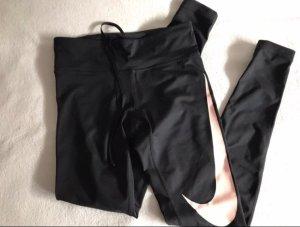 Nike Running - Basic Leggings aus DRY FIT mit Rosa Swoosh-Logo