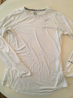 Nike Running Dri-Fit Shirt langarm weiss Grösse L