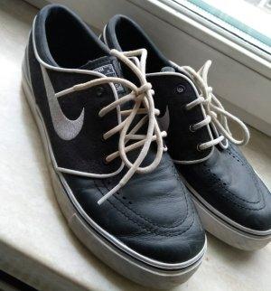 Nike Zapatos negro-blanco Cuero