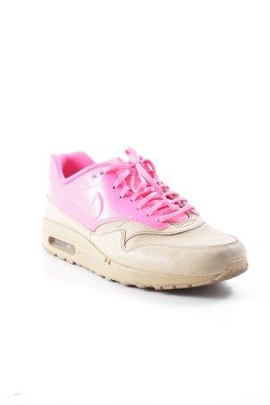 Nike Schlüpfschuhe beige-neonpink Colourblocking sportlicher Stil