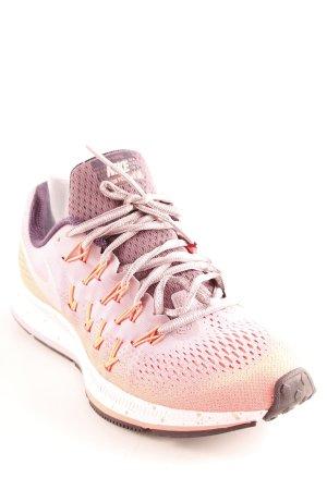 Nike Schnürschuhe blasslila-hellrot Farbverlauf sportlicher Stil