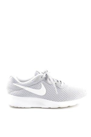 Nike Schnürschuhe hellgrau-weiß Allover-Druck Casual-Look