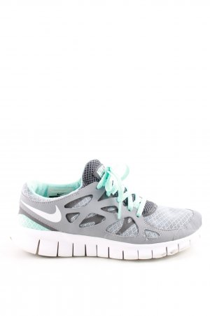 Nike Lace-Up Sneaker light grey-turquoise casual look