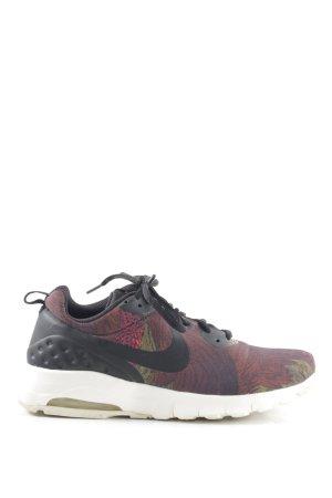 Nike Schnürsneaker rot-schwarz abstraktes Muster schlichter Stil