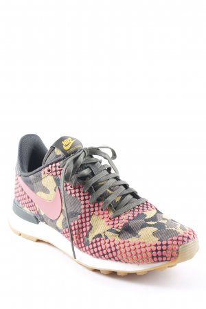 Nike Lace-Up Sneaker abstract pattern athletic style