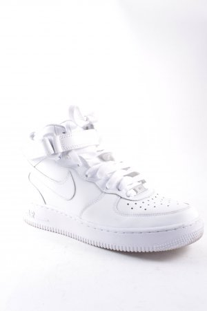 "Nike Lace-Up Sneaker ""Air Force 1 Mid (GS)"" white"