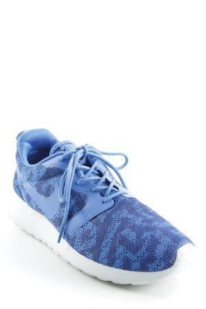 Nike Schnürsneaker blau-dunkelblau abstraktes Muster sportlicher Stil