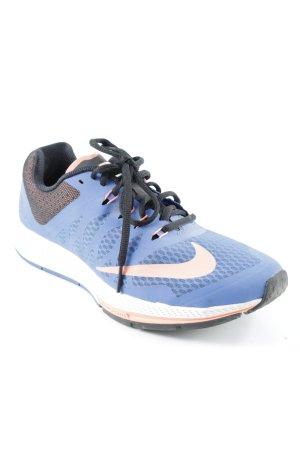 Nike Schnürsneaker blau-hellrot sportlicher Stil