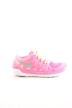 Nike Schnürsneaker pink-blassgelb Motivdruck Casual-Look