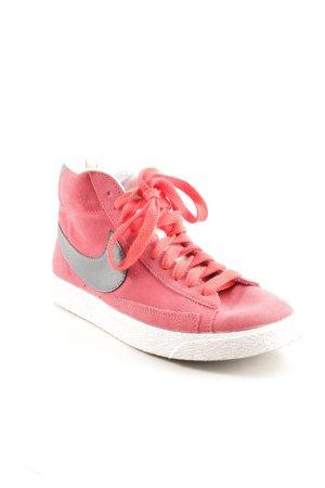 Nike Schnürsneaker dunkelgrau-ziegelrot Casual-Look