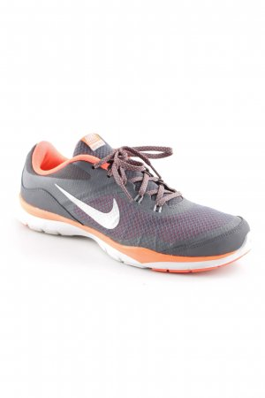 Nike Schnürsneaker grau-neonorange Netz-Optik