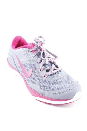Nike Schnürsneaker grau-pink sportlicher Stil