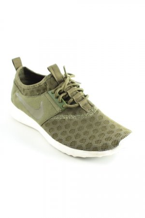 Nike Schnürsneaker grüngrau-weiß Lochstrickmuster Casual-Look