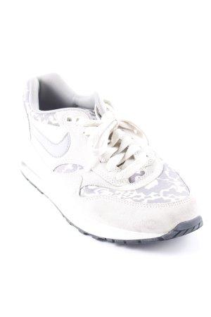 Nike Schnürsneaker hellbeige-hellgrau abstraktes Muster sportlicher Stil