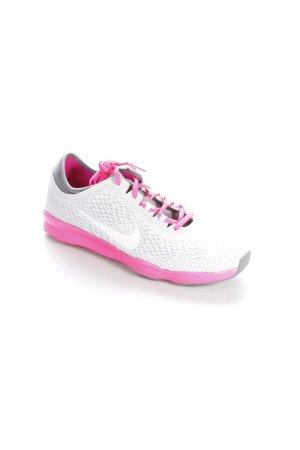 Nike Schnürsneaker hellgrau-neonpink sportlicher Stil