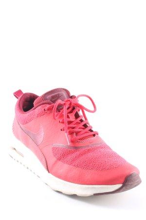 Nike Schnürsneaker hellrot-grauviolett Materialmix-Look