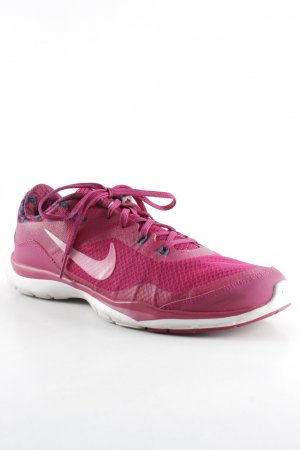 Nike Lace-Up Sneaker magenta-cadet blue abstract pattern casual look